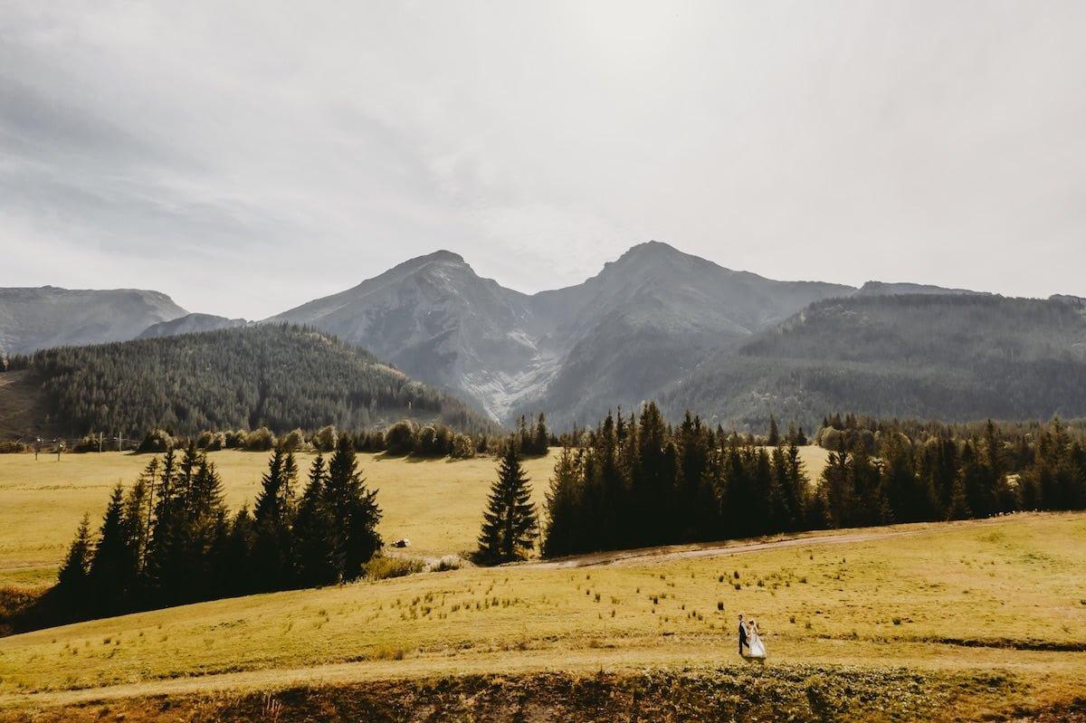 Plener ślubny na Słowacji - Szczyrbskie Jezioro